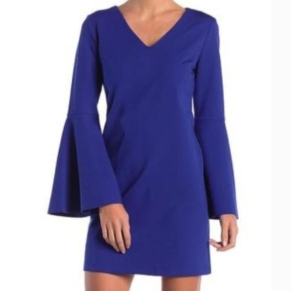 CeCe Dresses & Skirts - CeCe Size 10 Royal Blue Bell Sleeve Dress 0147